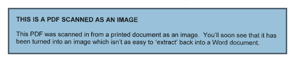 PDF Created as Image