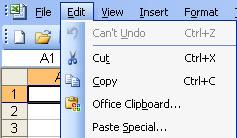 copy menu