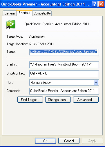 Press the shortcut keys you want to achieve the keyboard shortcut for this program