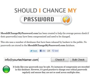 Should I Change My Password